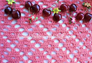 Diamond Crochet Stitch Free Pattern by Jane Green of Beautiful Crochet Stuff