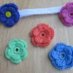 Changeable Crochet Flower Headband by Crochet 365 Knit Too