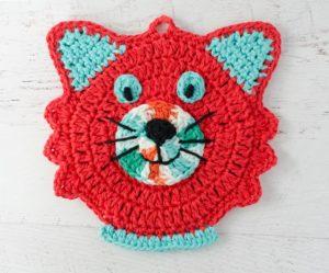 Cat Potholder by Crochet 365 Knit Too