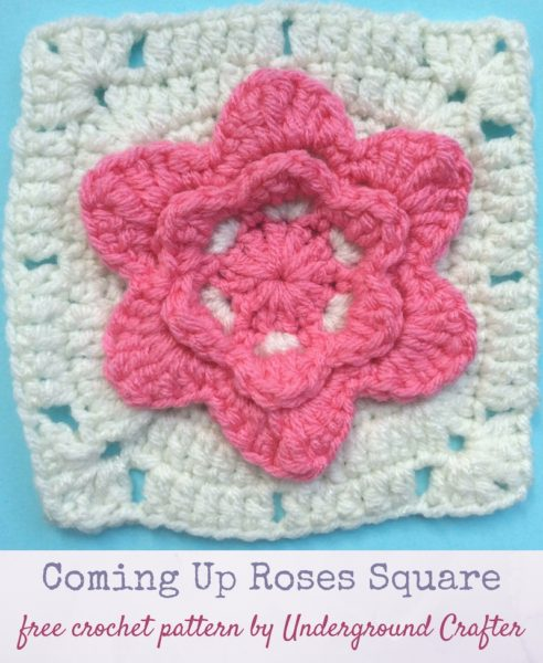 Coming Up Roses Square by Marie Segares/Underground Crafter