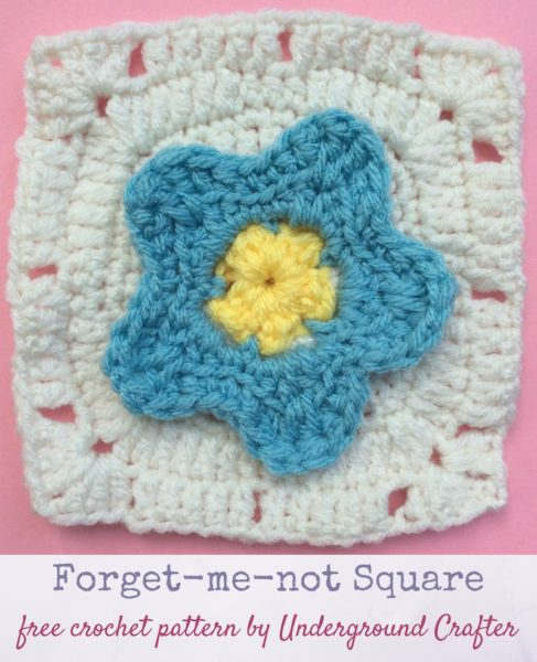 Forget-me-not Square by Marie Segares/Underground Crafter