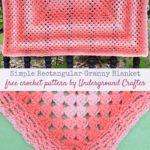Simple Rectangular Granny Blanket by Marie Segares/Underground Crafter