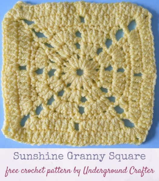 Sunshine Granny Square by Marie Segares/Underground Crafter