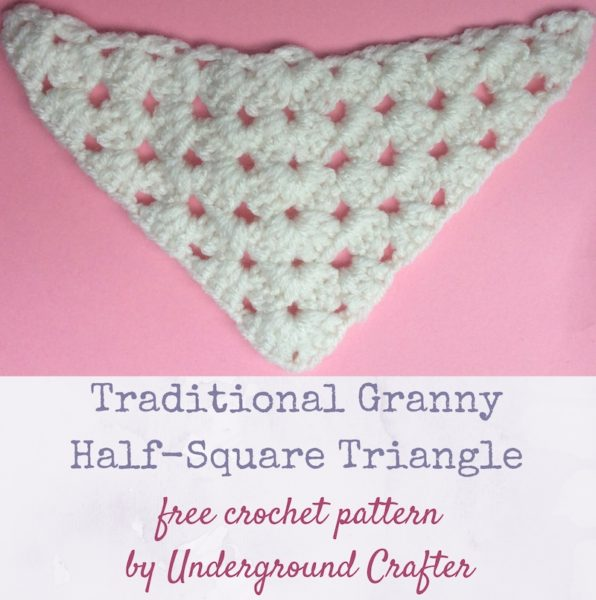 Traditional Granny Half-Square Triangle by Marie Segares/Underground Crafter