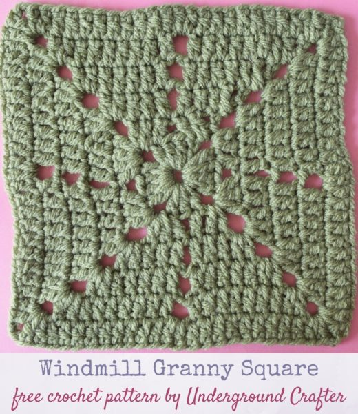 Windmill Granny Square by Marie Segares/Underground Crafter