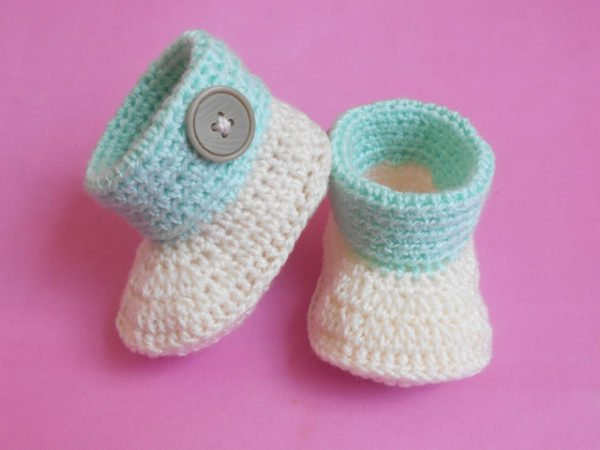 Baby Cuffed Booties by aamragul from Crochet/Crosia Home