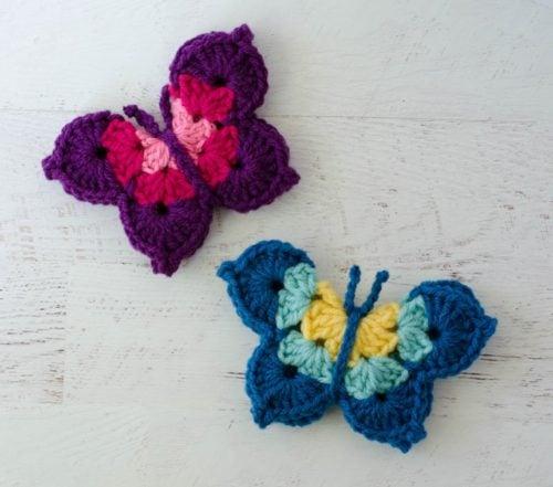 Crochet Butterfly by Crochet 365 Knit Too