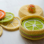 Crochet Citrus Coasters by Crochet 365 Knit Too