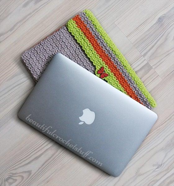 Crochet Case, Sleeve or Cover Free Pattern by Jane Green from Beautiful Crochet Stuff