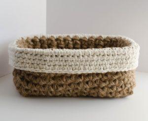 Jute Basket by Crochet 365 Knit Too