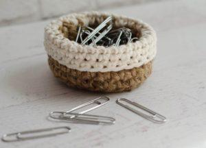 Mini Jute Basket by Crochet 365 Knit Too