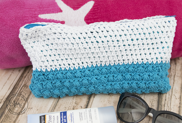 Beach Day Accessory Pouch by The Stitchin' Mommy