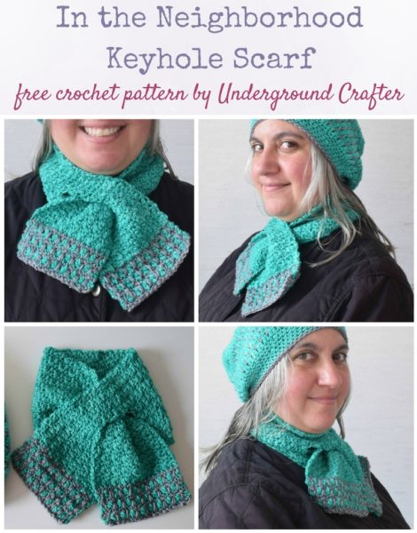 In the Neighborhood Keyhole Scarf by Marie Segares/Underground Crafter