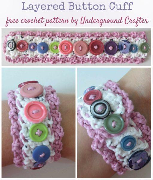 Layered Button Cuff by Marie Segares/Underground Crafter