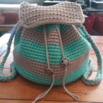Slouchy Stripes Backpack by Amanda Slate from Mandie The Mommy