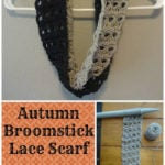 Autumn Broomstick Lace Scarf by Amanda Slate of Mandie The Mommy
