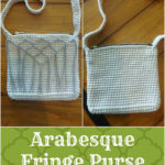 Arabesque Fringe Purse by Amanda Slate of Mandie The Mommy