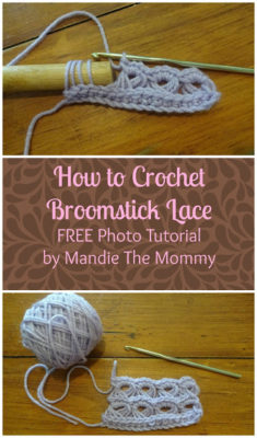 How to Crochet Broomstick Lace by Amanda Slate from Mandie The Mommy