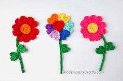 Heart Flowers by GoldenLucyCrafts