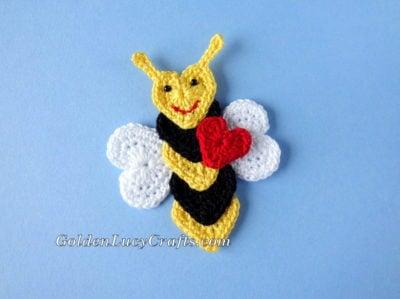 Bee Mine Applique by GoldenLucyCrafts