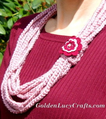 Chain Scarf Necklace by GoldenLucyCrafts