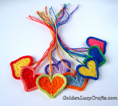 Colorful Valentine's Day Hearts by GoldenLucyCrafts