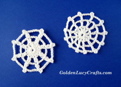 Spider Web Applique by GoldenLucyCrafts