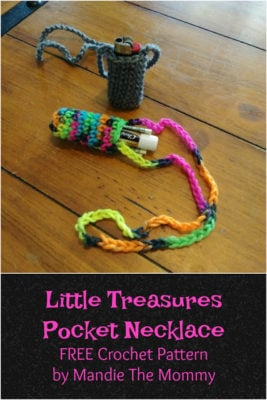 Little Treasures Pocket Necklace by Amanda Slate of Mandie The Mommy