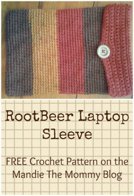 RootBeer Laptop Sleeve by Amanda Slate of Mandie The Mommy