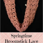Springtime Broomstick Lace Scarf by Amanda Slate of Mandie The Mommy