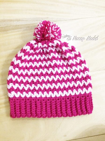 Easy V-Stitch Hat by Imadylle Bais of Si Nanay Madel