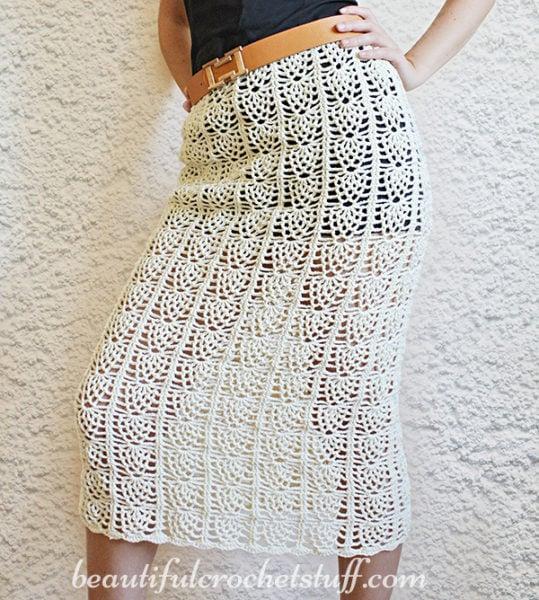 Pineapple Crochet Skirt Pattern by Jane Green from Beautiful Crochet Stuff