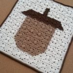 Acorn Square Pixel Art by EyeLoveKnots