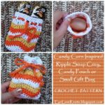 Ripple Soap Cozy, Candy Pouch or Small Gift Bag by EyeLoveKnots