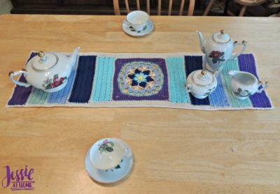 Flower Table Runner by Jessie At Home