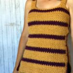Striped Crochet Tank Top by Hooked on Homemade Happiness