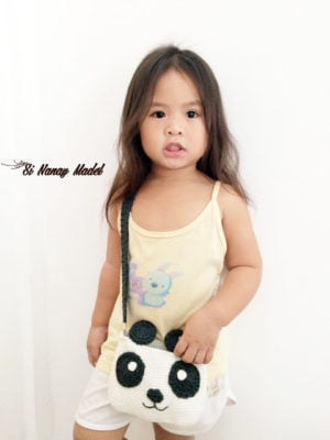 Panda Shoulder Bag by Si Nanay Madel