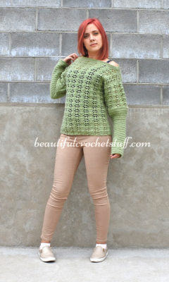 Crochet Sweater (Pullover) by Jane Green of Beautiful Crochet Stuff