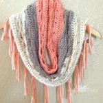Just Peachy Crochet Cowl by Hooked on Homemade Happiness