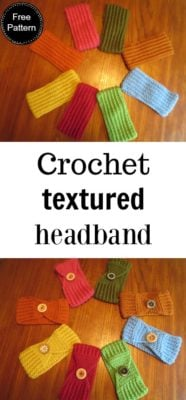 Crochet Textured Headband by Laura Wilson of Traverse Bay Crochet