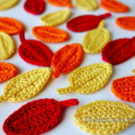 Easy Fall Crochet Leaves by GoldenLucyCrafts
