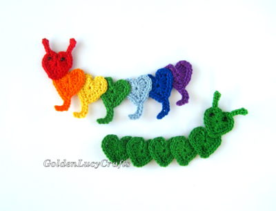 Caterpillar Applique by GoldenLucyCrafts