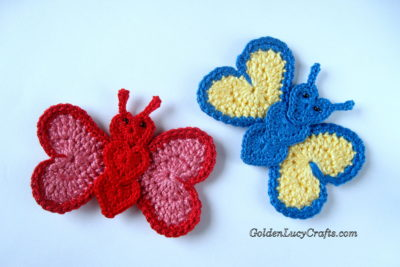 Butterfly Applique by GoldenLucyCrafts