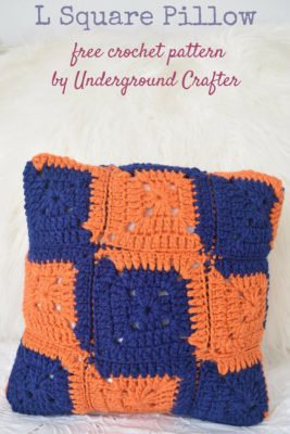 L Square Pillow by Marie Segares/Underground Crafter