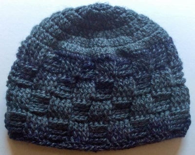 Meandering Walk in the Woods Basketweave Beanie by Marie Segares/Underground Crafter