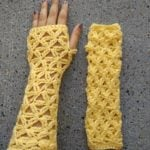 Lacy Fingerless Gloves by EyeLoveKnots