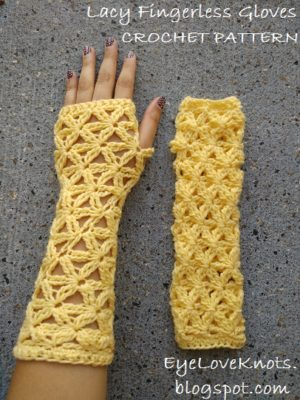 Lacy Fingerless Gloves by EyeLoveKnots