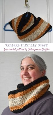 Vintage Infinity Scarf by Marie Segares/Underground Crafter