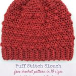Puff Stitch Slouch by Marie Segares/Underground Crafter