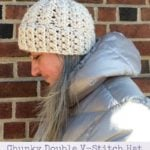 Chunky Double V-Stitch Hat by Marie Segares/Underground Crafter